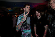 BANDMEMBERS OF  Bring Me The Horizon, Kerrang Awards 2009. Whitbread Brewery. Chiswell st. London. 3 August 2009.