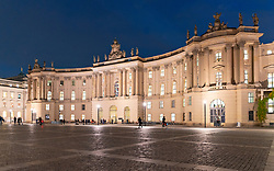 Night view of Law Faculty of Humboldt University in Berlin, Germany