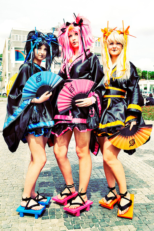 Cosplayer at the Anime fest 2012 in the city of Brno. Animefest is the oldest and largest anime and manga convention in the Czech Republic with around 2000 attendees in 2012. The festival offers a mix of contests (e.g. cosplay and AMV).