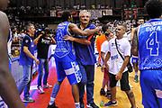 DESCRIZIONE : Campionato 2014/15 Serie A Beko Grissin Bon Reggio Emilia - Dinamo Banco di Sardegna Sassari Finale Playoff Gara7 Scudetto<br /> GIOCATORE : Jeff Brooks Romeo Sacchetti<br /> CATEGORIA : Postgame Ritratto Esultanza<br /> SQUADRA : Dinamo Banco di Sardegna Sassari<br /> EVENTO : LegaBasket Serie A Beko 2014/2015<br /> GARA : Grissin Bon Reggio Emilia - Dinamo Banco di Sardegna Sassari Finale Playoff Gara7 Scudetto<br /> DATA : 26/06/2015<br /> SPORT : Pallacanestro <br /> AUTORE : Agenzia Ciamillo-Castoria/L.Canu
