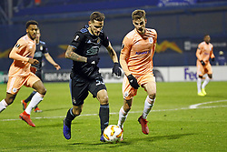December 13, 2018 - Zagreb, Croatia - ZAGREB, CROATIA - DECEMBER 13 :  Petar Stojanovic defender of Dinamo Zagreb and Pieter Gerkens midfielder of Anderlecht pictured during the Europa League Group Stage - Group D match between Dinamo Zagreb and Rsc Anderlecht on december 13, 2018 in Zagreb, Croatia, 13/12/2018 (Credit Image: © Panoramic via ZUMA Press)