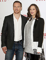 Michael Fassbender & Marion Cotillard, Assassin's Creed - London Photocall, Claridge's, London UK, 08 December 2016, Photo by Brett D. Cove