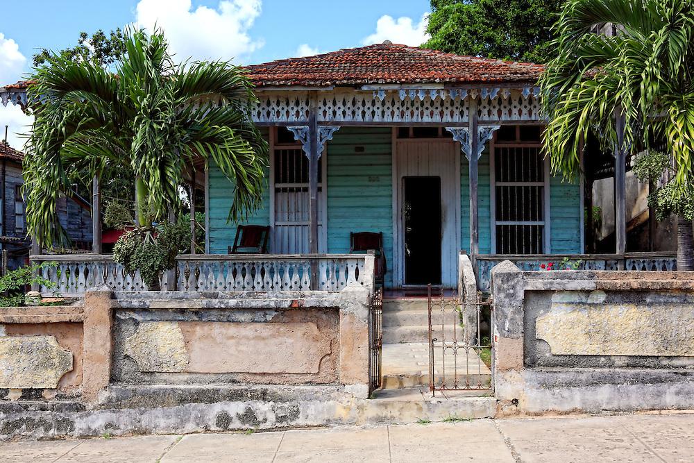 Gingerbread house in San Miguel de los Banos, Matanzas, Cuba.