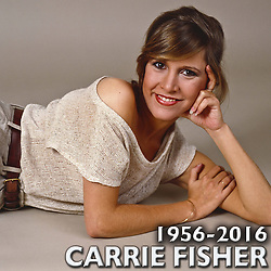 CARRIE FRANCES FISHER (October 21, 1956 - December 27, 2016) the actress best known as Star Wars' Princess Leia Organa, has died after suffering a heart attack. She was 60. Pictured: FILE 1983 - New York, U.S. - Carrie Fisher during a portrait shoot in New York. (Credit Image: © Lynn Goldsmith via ZUMA Press)