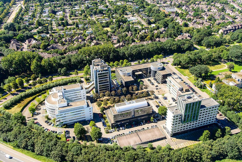 Nederland, Utrecht, Utrecht, 23-08-2016; Daltonlaan, Dalton Park. Hogeschool Utrecht. <br /> <br /> aerial photo (additional fee required);<br /> copyright foto/photo Siebe Swart