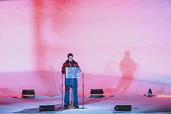 24.02.2021, Oberstdorf, GER, FIS Weltmeisterschaften Ski Nordisch, Oberstdorf 2021, Eröffnungsfeier, im Bild Bürgermeister der Marktgemeine Oberstdorf Klaus King // Mayor of the market town of Oberstdorf Klaus King during the opening ceremony for the FIS Nordic Ski World Championships 2021. in Oberstdorf, Austria on 2021/02/24. EXPA Pictures © 2021, PhotoCredit: EXPA/ Dominik Angerer