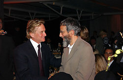Left to right, actor MICHAEL DOUGLAS and YUSUF ISLAM former known as Cat Stevens at the Fortune Forum Dinner held at Old Billingsgate, 1 Old Billingsgate Walk, 16 Lower Thames Street, London EC3R 6DX<br /><br />NON EXCLUSIVE - WORLD RIGHTS