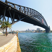 Sydney Harbour Bridge from Dawes Point in Sydney
