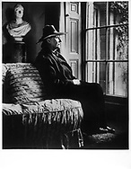 Edith Sitwell sits at her window at Renishaw Hall , Yorkshire 1945