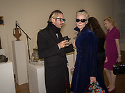 MALCOLM DOCHERTY; DAPHNE GUINNESS; , Opening of Galerie Thaddaeus Ropac London, Ely House, 37 Dover Street.. Mayfair. London. 26 April 2017.