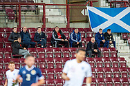 Alec McLeish (glasses) and Malky Mackay (red top) watching from the stand during the U21 UEFA EUROPEAN CHAMPIONSHIPS match between Scotland and England at Tynecastle Stadium, Edinburgh, Scotland on 16 October 2018.
