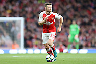 Shkodran Mustafi of Arsenal in action. Premier league match, Arsenal v Middlesbrough at the Emirates Stadium in London on Saturday 22nd October 2016.<br /> pic by John Patrick Fletcher, Andrew Orchard sports photography.