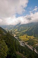 Golzern, Switzerland - looking down on the Maderanertal.