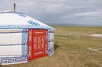 Mongolie. Province de Tov. yourte d hote. // Mongolia. Tov province. Guest house yurt.