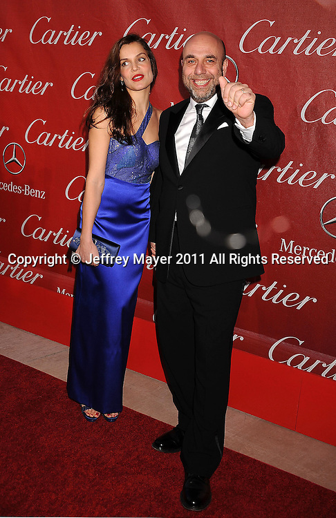 PALM SPRINGS, CA - January 08: Micaela Ramazotti and Paolo Virzi attend the 22nd Annual Palm Springs International Film Festival Awards Gala at Palm Springs Convention Center on January 8, 2011 in Palm Springs, California.