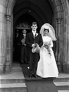 """05/09/1962<br /> 09/05/1962<br /> 05 September 1962<br /> Wedding of Fergus Keogh of """"Eagleville"""", Strandville Avenue, Clontarf, Dublin to Miss Miriam Caffrey, Church Avenue, Drumcondra Dublin at the Church of the Visitation of the BVM, Fairview with reception at St. Lawrence Hotel, Howth. Mr. keogh was full-back for Bective Rangers at the time."""