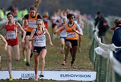 08-12-2013 ATHLETICS: SPAR EC CROSS COUNTRY: BELGRADE<br /> Sifan Hassan heeft vandaag haar favorietenrol waargemaakt. De atlete, die pas enkele weken geleden haar Nederlandse paspoort kreeg, won vandaag het EK Cross onder 23 jaar. Links Maureen Koster<br /> ©2013-WWW.FOTOHOOGENDOORN.NL