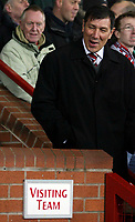 Photo: Paul Thomas/Sportsbeat Images.<br />Manchester United v Fulham. The FA Barclays Premiership. 03/12/2007.<br /><br />Manager Lawrie Sanchez of Fulham before kick off.