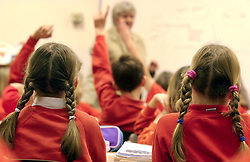 Embargoed to 0001 Monday April 30 File photo dated 03/12/03 of primary school children, as ministers have announced details of two programmes aimed at helping mums and dads to improve their youngstersÕ language and literacy skills before they start their education.
