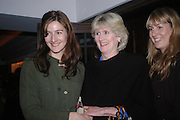 Fiona Shackleton and daughters. 'Polo' party  at The Westbury Hotel, Bond Street, London W1 on 26th April 2005.ONE TIME USE ONLY - DO NOT ARCHIVE  © Copyright Photograph by Dafydd Jones 66 Stockwell Park Rd. London SW9 0DA Tel 020 7733 0108 www.dafjones.com