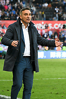 Football - 2017 / 2018 Premier League - Swansea City vs. Stoke City<br /> <br /> Swansea City manager Carlos Carvalha l on the touchline as Swansea head to defeat & relegation, at The Liberty Stadium.<br /> <br /> COLORSPORT/WINSTON BYNORTH