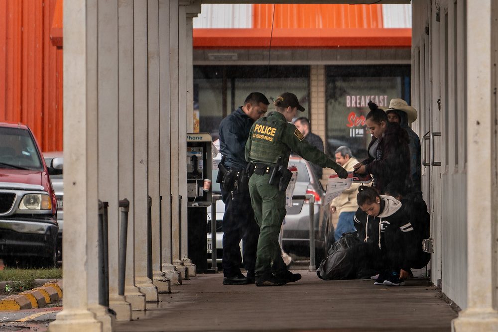 U.S. Border patrol detain a group just 500 yards north of the Mexican border in Hidalgo, Texas January 26, 2019. The Trump administration plans to begin sending some asylum seekers back to Mexico to await the resolution of their immigration processing this week, Department of Homeland Security officials said Thursday. Photo by Ken Cedeno/UPI
