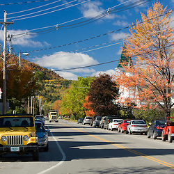 A street scene in Colebrook, New Hampshire.