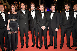 David Robert Mithcell, Annie Mitchell, Topher Grace, Chris Bender and Lucy Kitada, Jake Weiner attending the premiere of the film Under The Silver Lake during the 71st Cannes Film Festival in Cannes, France on May 15, 2018. Photo by Julien Zannoni/APS-Medias/ABACAPRESS.COM