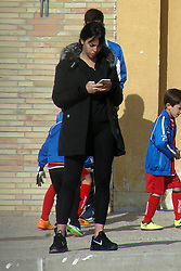 EXCLUSIVE: Georgina Rodriguez and Dolores Aveiro support Cristiano Ronaldo Jr. in his last football match where he was named as highest scorer of the school league. 15 Apr 2018 Pictured: Georgina Rodriguez. Photo credit: MEGA TheMegaAgency.com +1 888 505 6342
