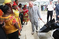 The Prince of Wales visits residents in Codrington, Barbuda as he continues his tour of hurricane-ravaged Caribbean islands.