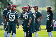 January 28 2016: Team Irvin defense huddles during the Pro Bowl practice at Turtle Bay Resort on North Shore Oahu, HI. (Photo by Aric Becker/Icon Sportswire)