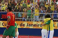 Footbal-FIFA Beach Soccer World Cup 2006 -  Semi Final- BRA xPOR -Bazil team celebrates the qualification -Rio de Janeiro- Brazil - 11/11/2006.<br />Mandatory Credit: FIFA/Ricardo Ayres