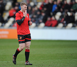 Dragons Jack Dixon<br /> Photographer Mike Jones/Replay Images<br /> <br /> European Rugby Challenge Cup Round 6 - Dragons v Bordeaux Begles - Saturday 20th January 2018 - Rodney Parade - Newport<br /> <br /> World Copyright © Replay Images . All rights reserved. info@replayimages.co.uk - http://replayimages.co.uk