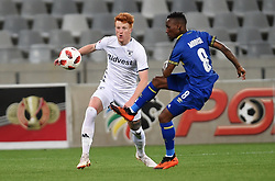 Cape Town-181002- Cape Town City Teko Modise  challenges Simon  Murray of Bidvest Wits in a PSL clash at Cape Town Stadium.Cape town City come to this game with high confidence after winning the MTN 8 cup over the weekend,while Wits will be fighting for the the top spot they have lost after some poor display in their last two games.Photographs:Phando Jikelo/African News Agency/ANA