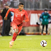EAST HARTFORD, CONNECTICUT- October 16th: Andy Polo #14 of Peru in action during the United States Vs Peru International Friendly soccer match at Pratt & Whitney Stadium, Rentschler Field on October 16th 2018 in East Hartford, Connecticut. (Photo by Tim Clayton/Corbis via Getty Images)