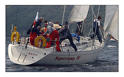 Yachting- The first days inshore racing  of the Bell Lawrie Scottish series 2002 at Tarbert Loch Fyne. Near perfect conditions saw over two hundred yachts compete. <br />Supertramp IV - Sigma 38 6461C/6451C class 3<br /><br />Pics Marc Turner / PFM