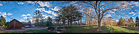 Front Yard North East 360 degree Panorama. Composite of 19 images taken with a Fuji X-T1 camera and Zeiss 12 mm f/2.8 lens (ISO 200, 12 mm, f/11, 1/60 sec). Raw images processed with Capture One Pro and AutoPano Giga Pro.