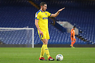AFC Wimbledon midfielder Anthony Hartigan (8) making hand gesture during the EFL Trophy match between U21 Chelsea and AFC Wimbledon at Stamford Bridge, London, England on 4 December 2018.
