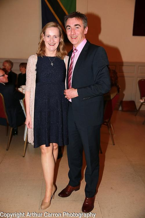 10/4/14 Paul Dixon and Maria Mahon, Chair Camara at a dinner hosted by Camara in aid of Ethiopia at Blackhall Place, Dublin. Picture:Arthur Carron