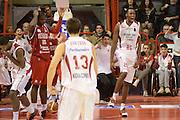 DESCRIZIONE : Pistoia Lega serie A 2013/14 Giorgio Tesi Group Pistoia Victoria Libertas Pesaro<br /> GIOCATORE : johnson jajuan<br /> CATEGORIA : controcampo esultanza<br /> SQUADRA : Giorgio Tesi Group Pistoia<br /> EVENTO : Campionato Lega Serie A 2013-2014<br /> GARA : Giorgio Tesi Group Pistoia Victoria Libertas Pesaro<br /> DATA : 24/11/2013<br /> SPORT : Pallacanestro<br /> AUTORE : Agenzia Ciamillo-Castoria/GiulioCiamillo<br /> Galleria : Lega Seria A 2013-2014<br /> Fotonotizia : Pistoia Lega serie A 2013/14 Giorgio Tesi Group Pistoia Victoria Libertas Pesaro<br /> Predefinita :