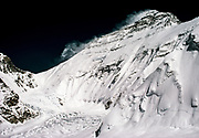Chomolungma, Mt Everest, North face and Chang La from Lho La, Tibet