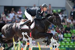 Patrice Delaveau, (FRA), Cortes C - Show Jumping Final Four - Alltech FEI World Equestrian Games™ 2014 - Normandy, France.<br /> © Hippo Foto Team - Jon Stroud<br /> 07/09/2014