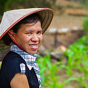 """CAPTION: """"The biggest benefit is the knowledge I've learned and can now apply in real life"""", reports Hue. """"I'm also more confident about sharing what I know with other people, and in giving voice to my own opinion. More than this, I've been able to improve my position within my family. For example, when I make a suggestion about how to look after the pigs, the rest of the family trusts my opinion more than ever before and allows me to follow through on my idea"""". Hue goes on to speak of how she also feels empowered to voice her opinion in the wider community. Indeed, since participating in training sponsored by We Effect, she's become a more active member in the Women's Association and the community as a whole. LOCATION: Consumption Office, Hanoi, Vietnam. INDIVIDUAL(S) PHOTOGRAPHED: Ha Duc Duong."""