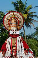 Inde, Etat du Kerala, Kochi ou Cochin, Fort Cochin le centre historique, Kathakali, théâtre dansé du Kerala // India, Kerala State, Fort cochin or Kochi, Kathakali dancers