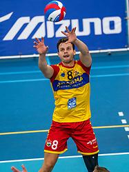 Freek de Weijer #8 of Dynamo in action in the supercup semifinal between Draisma Dynamo – Active Living Orion on October, 03 2020 in Van der Knaaphal, Ede