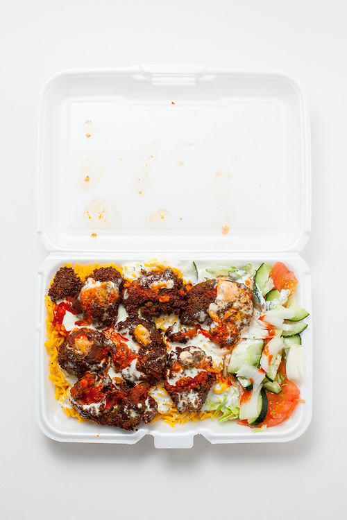 Falafel over rice from Gyro King ($6.00)