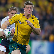 Rob Horne, Australia, in action during the Australia V USA, Pool C match during the IRB Rugby World Cup tournament. Wellington Stadium, Wellington, New Zealand, 23rd September 2011. Photo Tim Clayton...