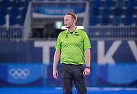 TOKIO - Scheidsrechter Coen van Bunge  tijdens de hockey finale mannen, Australie-Belgie (1-1), België wint shoot outs en is Olympisch Kampioen,  in het Oi HockeyStadion,   tijdens de Olympische Spelen van Tokio 2020. COPYRIGHT KOEN SUYK