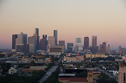 Stock photo of the Houston skyline from the south end