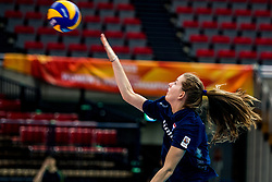 06-10-2018 JPN: World Championship Volleyball Women day 7, Nagoya<br /> Press conference coaches group Nagoya after training day for Netherlands and Brazil / Tessa Polder #20 of Netherlands